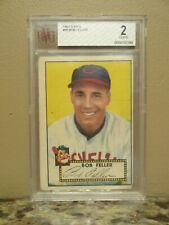 1952 Topps #88 Bob Feller Baseball Card - Graded BVG 2 Good - Cleveland Indians