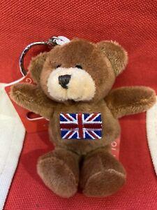 Union Jack Souvenir Teddy Bear London keyring (brown )