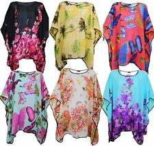 Hip Length Chiffon Tunic, Kaftan Tops & Shirts for Women
