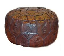 Egyptian Morrocan Handmade Genuine Leather Ottoman Pouf  Cover XL (Empty)