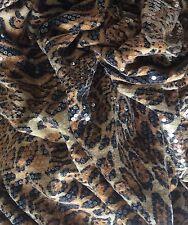 Animal Print black gold orange Fabric, Clothing, Swimwear 145cm X 60cm
