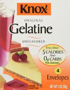Knox Original Unflavored Gelatine Dessert Mix 4 Packets