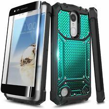 For LG Rebel 4 LTE/Aristo 2/3 Plus/Phoenix 4 Case, Phone Cover + Tempered Glass