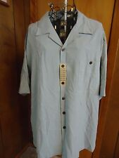 NWT Mens XXL Porcini Light Sky Blue SS Shirt Straight Bottom Pocket