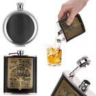 Engraved Stainless Steel Pocket Liquor Whiskey Hip Flask Alcohol Bottle Men Gift