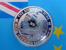 2020 Tuvalu THE ROYAL FORTUNE - BLACK BART Black Flag .9999 fine silver IN-STOCK