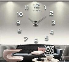 Orologio da parete 3D Adesivo da parete Decorazione Design Specchio Orologio IT