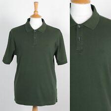 Mens Izod Llano Polo Camiseta Verde Usa Golf Camisa Informal Preppy L