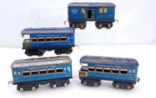 """4 American Flyer Prewar """"Blue Bird"""" Passenger Cars 1285, 1286, 2-1287"""