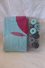 13 pc Splash Bath Loophole Shower Curtain  and Hooks Set NIP