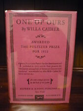 One of Ours 1922 Willa Cather 1st Trade Edition with 10th Printing DJ Pulitzer