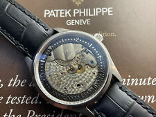 ANTIQUE 1911 PATEK PHILIPPE MOVEMENT IN NEW SWISS MADE CASE SAPPHIRE GLASS