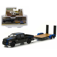 Greenlight 32070C 2015 Ram Mopar Edition and Flat Bed Trailer Hitch & Tow
