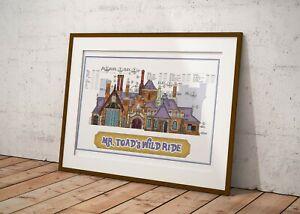 Disneyland - Mr Toad's Wild Ride Attraction - Colored Blueprint