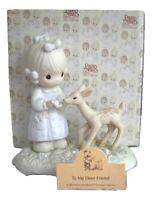 Precious Moments To My Deer Friend Figurine w/ Box 1986 Friendship 100048 Fawn