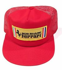 Vintage 1970s NOS Bob Sharp Ferrari Racing Trucker Rope Snapback Hat