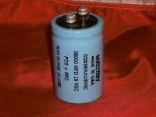 Mallory Cg383U015V3C Capacitor 38000 uF/Mfd 15 Vdc