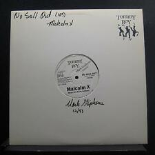 """Malcolm X - No Sell Out 12"""" VG+ TB 840 White Promo 1983 Tommy Boy Vinyl Record"""