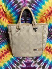 Women's Authentic Tumi Nylon Tan Shoulder Bag With Leather Straps Signature
