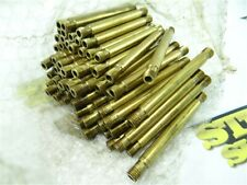 """60Pc Lot Of Brass Tube Stock W/ Double End Threads 3/16"""" Id X 3-1/4"""" Lengths"""