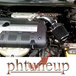 BLACK Fit for 2003-2008 HYUNDAI TIBURON 2.7L V6 AIR INTAKE + FILTER