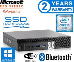 DELL 'NUC' STYLE MICRO. SUPER FAST SSD + HUGE 1000GB. DUAL DISPLAY. WIN 10 PRO.