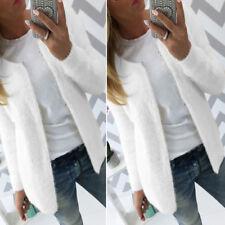 Women Jacket Slim Knit Solid Coat Cardigan Sweater Outwear Short Fall Warm Soft