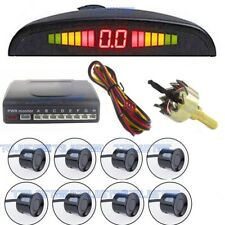 12V 8 black parking sensor automatic front / rear reverse alarm system kit