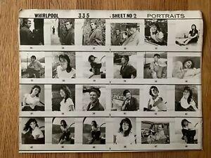 WHIRLPOOL 1959 Juliette Greco - Original film studio contact sheet 11x14 inches