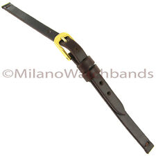6mm Glam Rock High Quality Brown Genuine Leather Flat Unstitched Watch Band NB