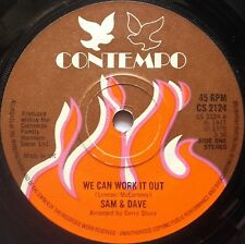 "7"" Sam & Dave ‎– We Can Work It Out Uk 1978 Contempo ‎– CS 2124 Funk Soul"