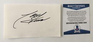 Tony Stewart Signed Autographed 3x5 Card BAS Beckett Cert NASCAR Champion HOF