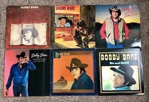 BOBBY BARE - 6 x VINYL LP Collection