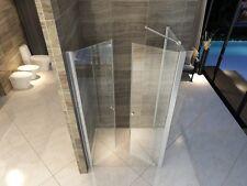 BOX DOCCIA in CRISTALLO 6 mm trasparente- LATO FISSO+CON DOPPIA APERTURA SALOON