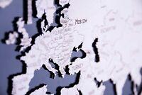 WOODEN CITY® Weltkarte XL, 3D Holzmodell, 3D Holzpuzzle, World Map XL