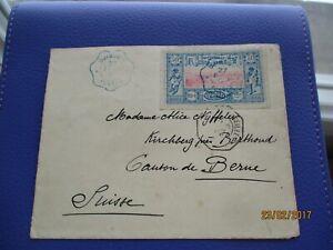 enveloppe timbre djibouti suisse 1897  cotes des somalis rare