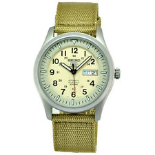 Seiko 5 Sport Automatic Men's Watch Beige Canvas Band SNZG07