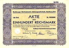 BEDBURGER Wollindustrie AG Bedburg Erft alte Aktie 1937 Wollspinnerei Silverberg