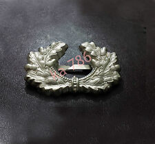 WW2 German Army Metal Cap Insignia, Metal Wreath ( Repro )
