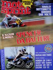 Motosprint 16 1983 Cross 125 mondiale: Rinaldi sottomette Geboers. Spencer [Q83]