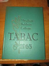 1963 Abraham Baldwin Agricultural College ABAC Yearbook Tifton Georgia GA GUC