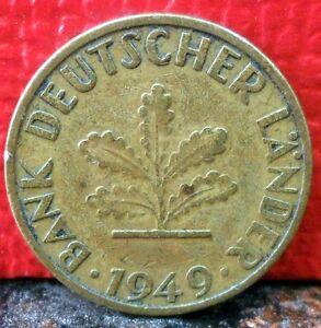 XXX Higher Grade First Year 1949J Germany 5 Pfennig KM# 102