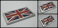ASTON MARTIN AUSTIN HEALEY JENSEN TVR UNION JACK FLAG CHROME 3D BADGE ENGLAND