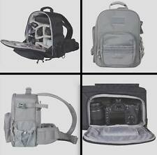 NEW Universal Tactical Photography Camera Padded & Divided Sling Carry Bag GREY