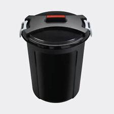 HEIDRUN Mülleimer mit Deckel Matrixtonne 46 L Ø 48 cm Mülltonne Universaltonne