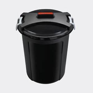 HEIDRUN Universal Futtertonne mit Deckel 46L Müll Abfalleimer Plastik Hund Pferd