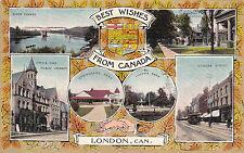 LONDON , Ontario, Canada, 1900-10s ; 6-View Postcard