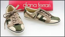 DIANA FERRARI WOMEN'S FLAT CASUAL COMFORT LACE UP SNEAKERS SHOES SIZE 6