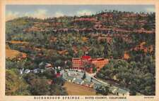 Butte County California aerial view Richardson Springs linen antique pc Z39932