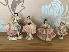 Dresden Lace Figurines. Job Lot X 4.